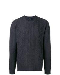 Мужской темно-синий вязаный свитер от Polo Ralph Lauren