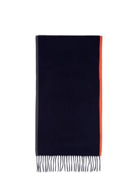 Мужской темно-синий вязаный шарф от Daniel W. Fletcher