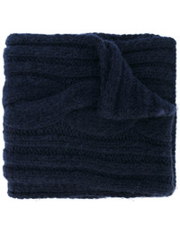 Женский темно-синий вязаный шарф от Maison Margiela