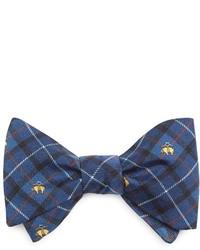 Темно-синий галстук-бабочка с принтом