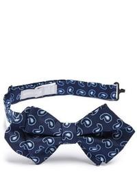 Темно-синий галстук-бабочка