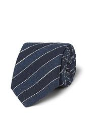 Мужской темно-синий галстук в вертикальную полоску от Brunello Cucinelli