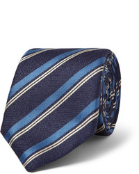 Мужской темно-синий галстук в вертикальную полоску от Canali