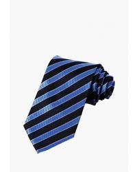 Мужской темно-синий галстук в вертикальную полоску от Churchill accessories