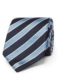 Мужской темно-синий галстук в вертикальную полоску от Hugo Boss