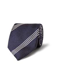 Мужской темно-синий галстук в вертикальную полоску от Tom Ford