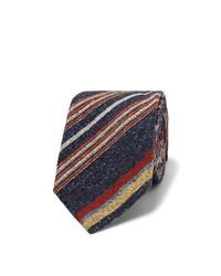 Мужской темно-синий галстук в вертикальную полоску от Turnbull & Asser