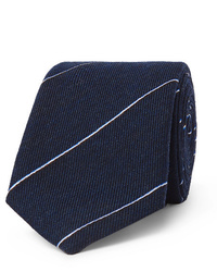 Мужской темно-синий галстук в горизонтальную полоску от Dunhill