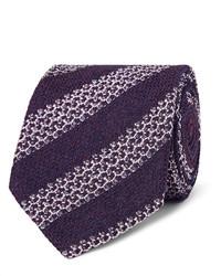 Мужской темно-синий галстук в горизонтальную полоску от Ermenegildo Zegna