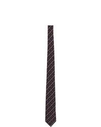 Мужской темно-синий галстук в горизонтальную полоску от Gucci
