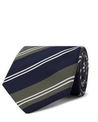 Мужской темно-синий галстук в горизонтальную полоску от Kingsman