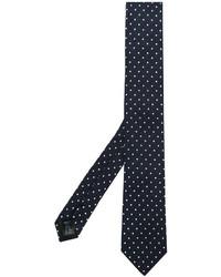 Мужской темно-синий галстук в горошек от Dolce & Gabbana