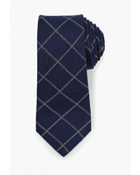 Мужской темно-синий галстук в шотландскую клетку от Mango Man