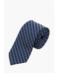 Мужской темно-синий галстук в шотландскую клетку от Pierre Lauren