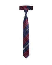 Мужской темно-синий галстук в шотландскую клетку от Signature
