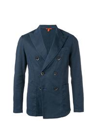 Мужской темно-синий двубортный пиджак от Barena