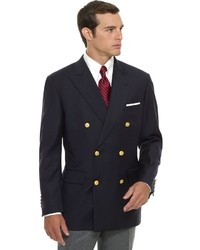 Мужской темно-синий двубортный пиджак от Brooks Brothers