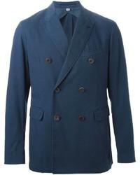 Мужской темно-синий двубортный пиджак от Burberry