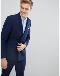 Мужской темно-синий двубортный пиджак от Burton Menswear