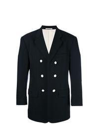 Мужской темно-синий двубортный пиджак от Comme Des Garçons Vintage