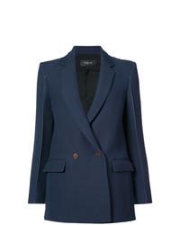 Женский темно-синий двубортный пиджак от Derek Lam
