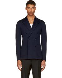 Мужской темно-синий двубортный пиджак от Dolce & Gabbana