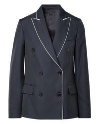 Женский темно-синий двубортный пиджак от Golden Goose Deluxe Brand