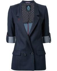 Женский темно-синий двубортный пиджак от GUILD PRIME