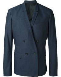 Мужской темно-синий двубортный пиджак от Juun.J
