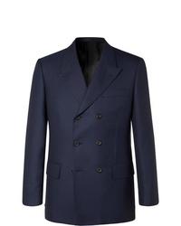Мужской темно-синий двубортный пиджак от Kingsman