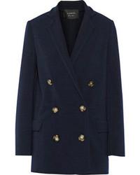Женский темно-синий двубортный пиджак от Lanvin