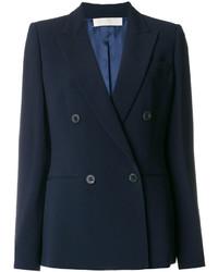 Женский темно-синий двубортный пиджак от Mantu