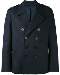 Мужской темно-синий двубортный пиджак от Neil Barrett