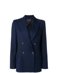 Женский темно-синий двубортный пиджак от Odeeh