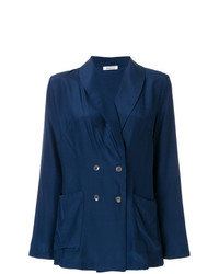 Женский темно-синий двубортный пиджак от P.A.R.O.S.H.