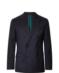 Мужской темно-синий двубортный пиджак от Paul Smith