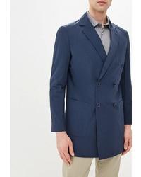 Мужской темно-синий двубортный пиджак от Primo Emporio