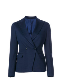 Женский темно-синий двубортный пиджак от Tagliatore
