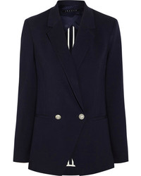 Женский темно-синий двубортный пиджак от Theory