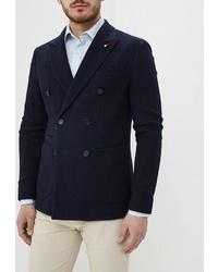 Мужской темно-синий двубортный пиджак от Tommy Hilfiger Tailored