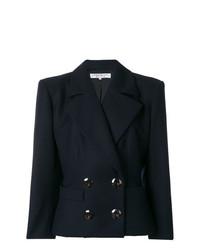 Женский темно-синий двубортный пиджак от Yves Saint Laurent Vintage
