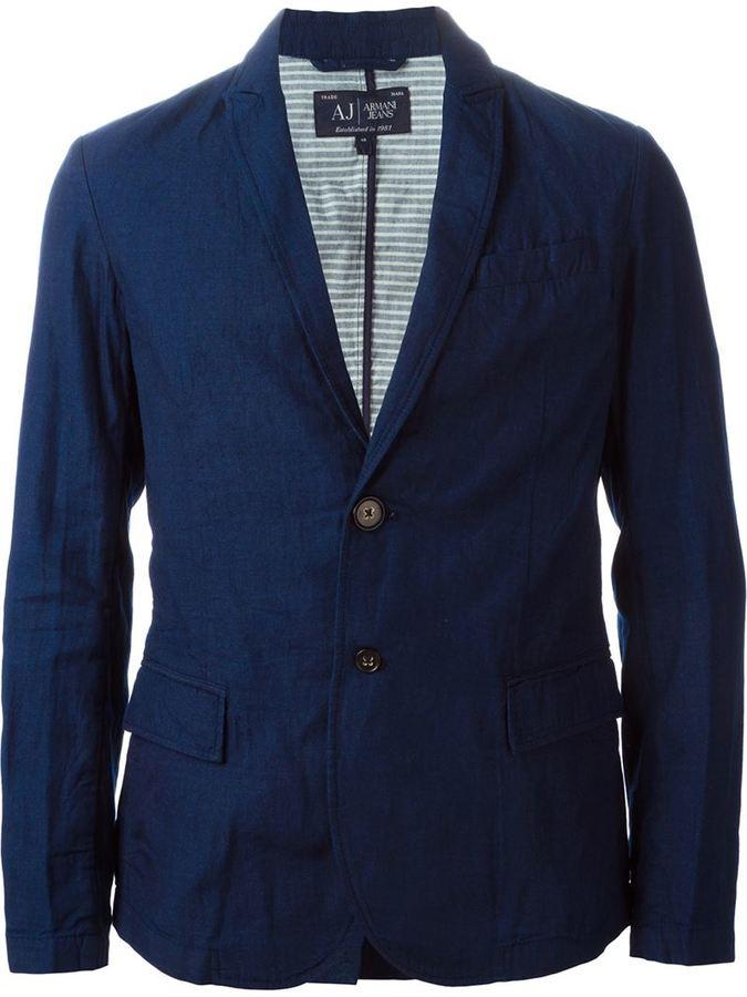 Мужской темно-синий джинсовый пиджак от Armani Jeans   Где купить и ... d1772a93c4b