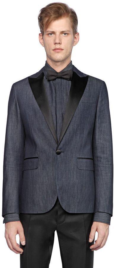 Мужской темно-синий джинсовый пиджак от DSQUARED2   Где купить и с ... fb74aae37e7