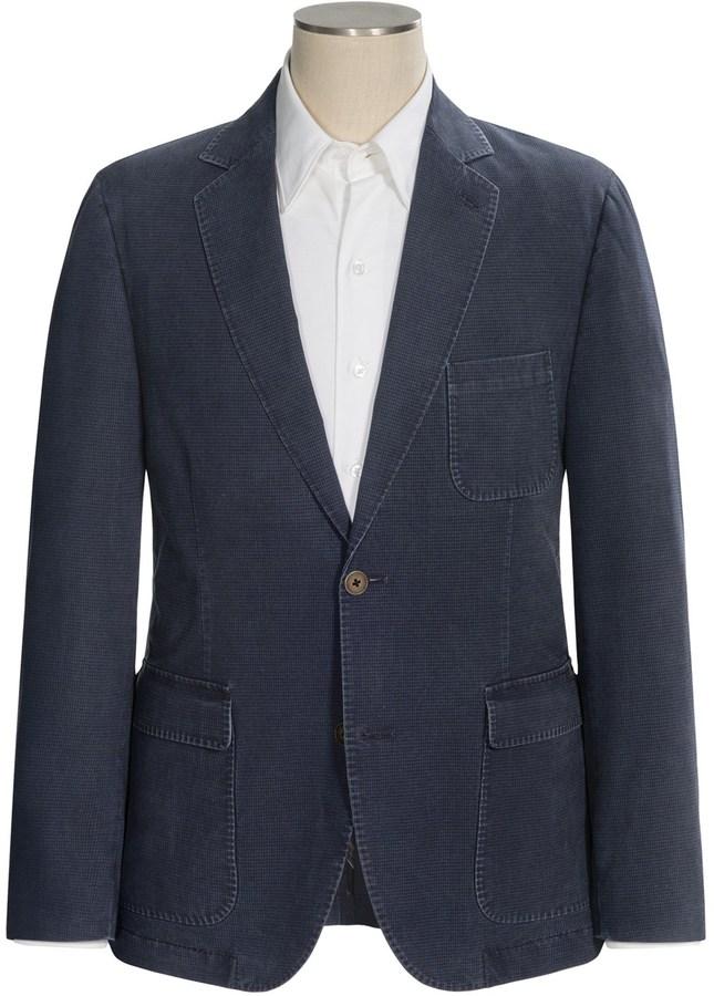 Мужской темно-синий джинсовый пиджак   Где купить и с чем носить 2c1b77b1ab5