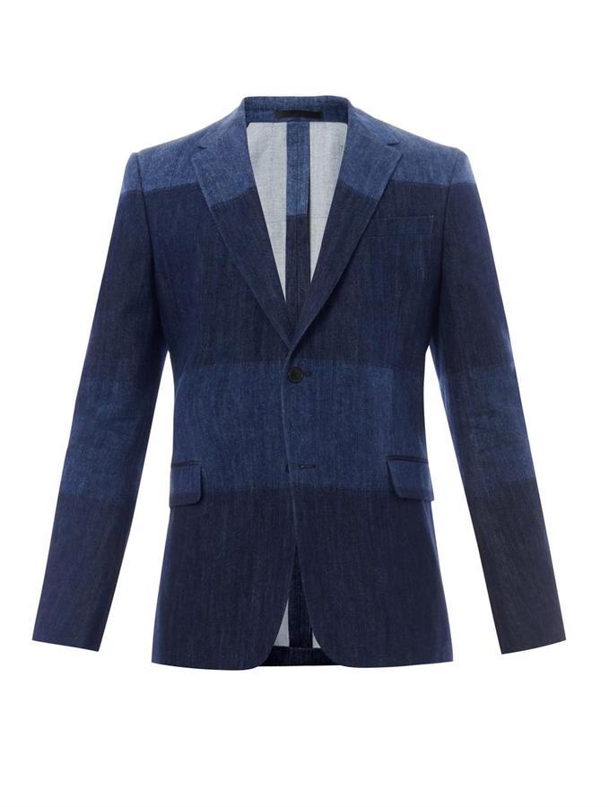 Мужской темно-синий джинсовый пиджак от Valentino   Где купить и с ... 168ca1a6530