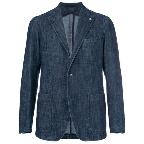 Мужской темно-синий джинсовый пиджак от Tagliatore   Где купить и с ... b74673aefa3