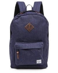 Темно-синий джинсовый рюкзак