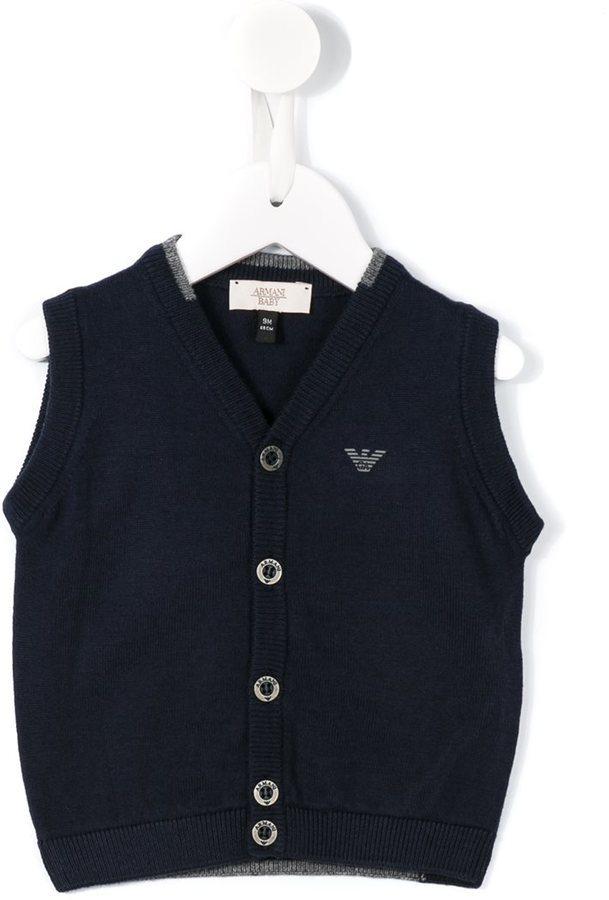 Детский темно-синий кардиган для мальчиков от Armani Junior
