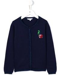 Детский темно-синий кардиган для девочке от Little Marc Jacobs