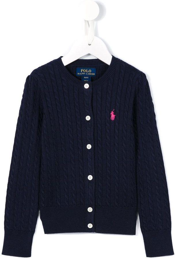 Детский темно-синий кардиган для девочек от Ralph Lauren